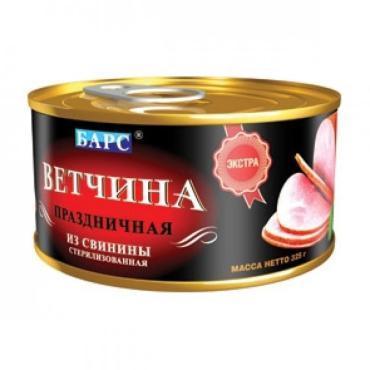 Мясные консервы Барс Ветчина из свинины Европейская