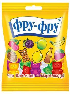 Жевательный мармелад Фру-фру Тропические фрукты, 30 гр., флоу-пак