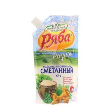 """Майонез """"РЯБА"""" 67% Сметанный Прован 233г с дозф-28"""