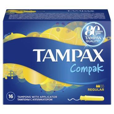 Тампоны Tampax Compak Regular c аппликатором 16шт.