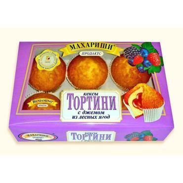 Кексы Махариши Тортини С вишневым джемом