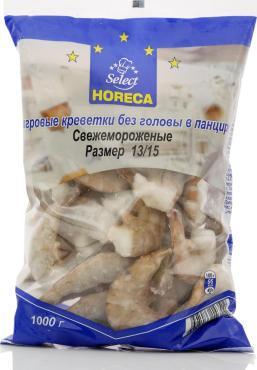 Креветки Horeca Select Тигровые без головы в панцире 13/15 свежемороженные