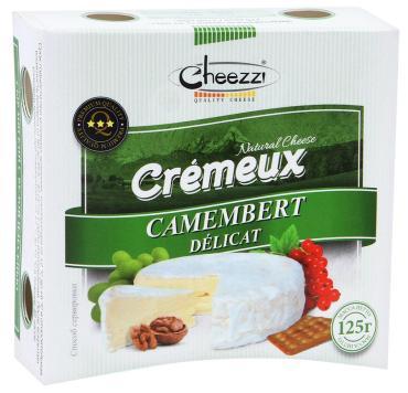 Сыр Cheezzi Camembert Cremeux Деликат мягкий с белой плесенью 50%
