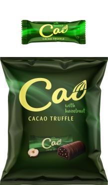 Конфеты Cao трюфельно-шоколадные с кремовым корпусом глазированные