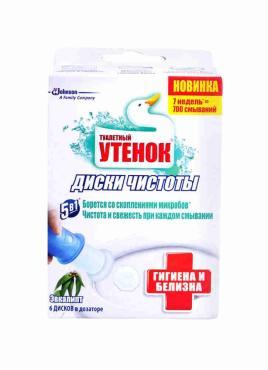 Диски чистоты Туалетный утенок Гигиена и белизна запасной блок