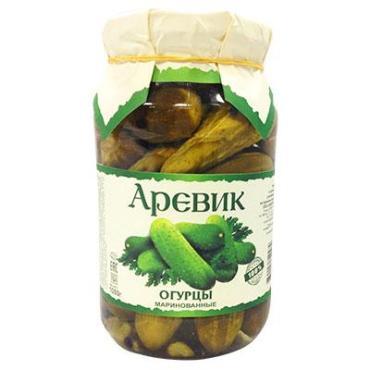 Овощные консервы Аревик огурцы маринованные