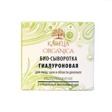 Саше Био-сыворотка Karelia Organica Гиалуроновая для лица, шеи и области декольте