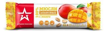 Батончик злаковый Армия России с манго