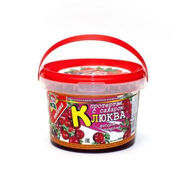 Ягодный десерт ДжемПак Клюква протертая с сахаром
