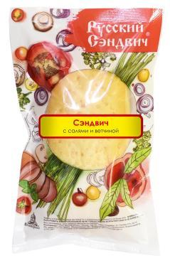 Сэндвич Русский сэндвич С салями и ветчиной