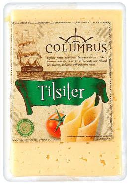 Сыр Columbus Тильзитер 45% в нарезке
