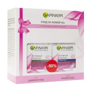 Набор Garnier Клетки молодости активный лифтинг 45+ крем дневной + крем ночной