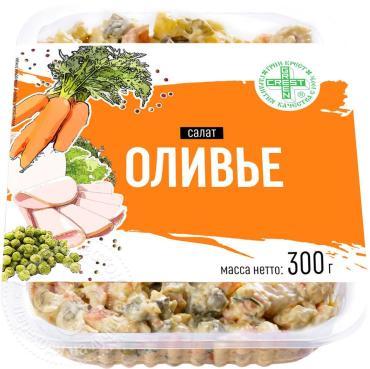 Салат Green Crest Оливье, 300 гр., пластиковый контейнер