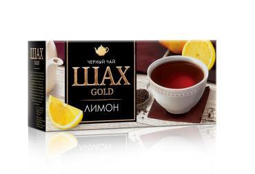 Чай ШАХ ГОЛД Лимон гранулированный черный 25 пакетиков