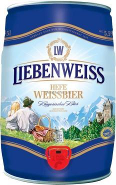Пиво Liebenweiss Hefe-Weissbier светлое нефильтрованное