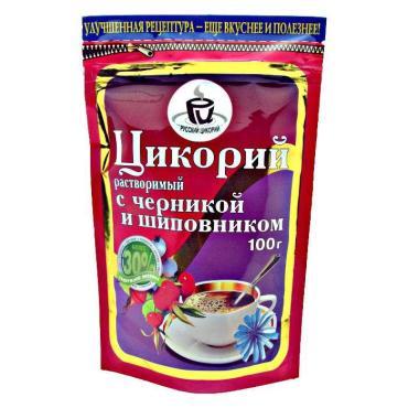 Цикорий Русский цикорий шиповник и черника, 100 гр., дой-пак