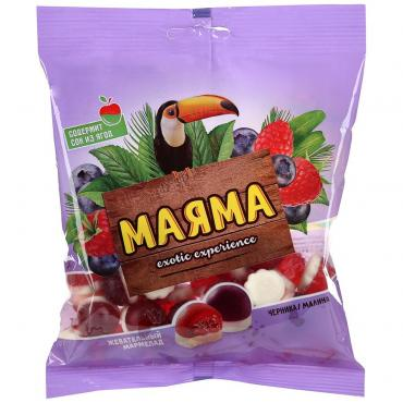 Мармелад Маяма Жевательный Со вкусом малины и черники со сливками