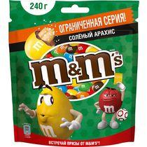 Драже M&M's Соленый арахис240 гр., дой-пак