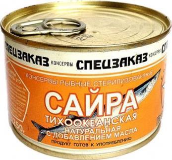 Консервы Русский Рыбный Мир Спецзаказ Сайра тихоокеанская натуральная с добавлением масла