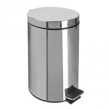 Ведро мусорное Доляна с педалью, 12 л., цвет серый