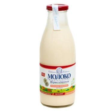 Молоко Первозданное цельное натуральное 4,3%