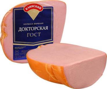 Колбаса Клинский мясокомбинат Докторская вареная в натуральной оболочке, 450 гр.