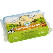 Сыр Кезский сырзавод Костромской полутвердый фасованный 45% 250 г
