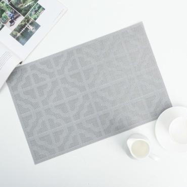 Салфетка кухонная Доляна Лилия цвет серый