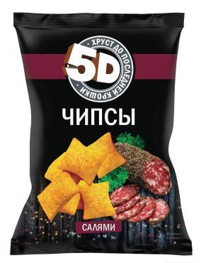Чипсы 5D со вкусом салями пшеничные