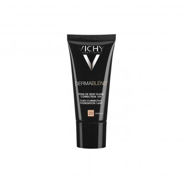 Тональный флюид Vichy Dermablend корректирующий, тон 20 ваниль