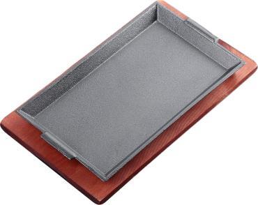 Сковорода 27,5х16,5х3 см Прямоугольник, на деревянной подставке