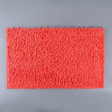Коврик для ванны Доляна Букли длинные 50х78 см. коралловый