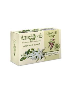Мыло оливковое с ароматом жасмина Aphrodite, 100 гр., Картонная коробка