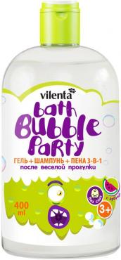 Гель для душа детский,3 в 1, После веселой прогулки, Vilenta, 400 мл., Пластиковая бутылка