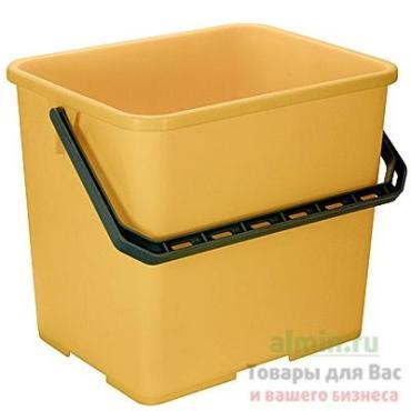Ведро 6 л., прямоугольное пластик желтое Vile a
