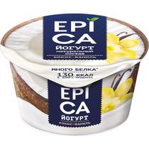 Йогурт Epica с кокосом и ванилью 6,3%