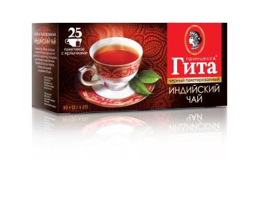 Чай Принцесса ГИТА Индия черный 25 пакетиков