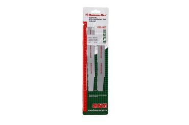 Полотно для сабельных пил 225-007 S4860DF 300x26x1.50 мм., универс., 2 шт., Hammer Flex, 170 гр., блистер