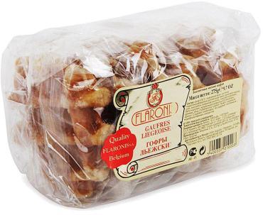 Вафли бисквитные гофрированные Льежские, Flaronis, 275 гр., флоу-пак