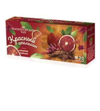 Чай пакетированный каркаде 20 пак. Императорский Красный апельсин, 30 гр., картонная коробка