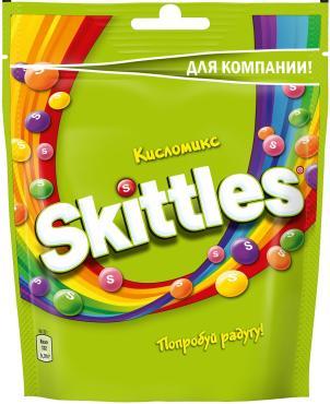 Конфеты Skittles Mega жевательные Кисломикс в сахарной глазури