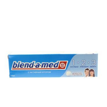 Зубная паста 1-2-3 Деликатное отбеливание Blend-a-Med 100мл
