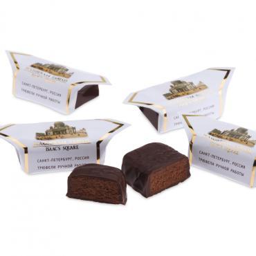 Конфеты шоколадные трюфели Исаакиевская площадь, Джи Си-Золотые конфеты, 1 кг, обертка