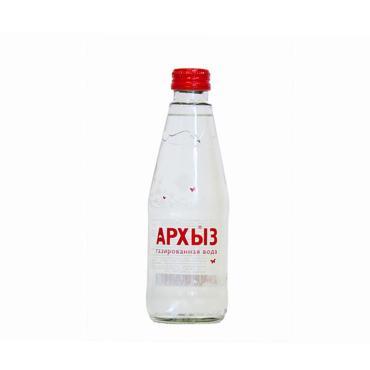 Вода Архыз минеральная газированная ,250 мл.,стекло
