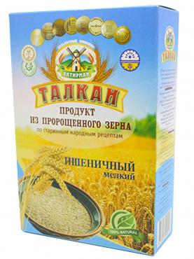 Талкан пшеничный мелкий помол, Талкан-Актирман, 350 гр., коробка