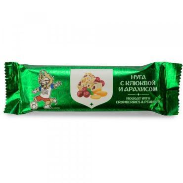 Конфета-пластина Fifa Нуга с клюквой и арахисом