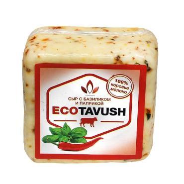 Сыр с базиликом и паприкой 50% EcoTavush, 270 гр., вакуумная упаковка
