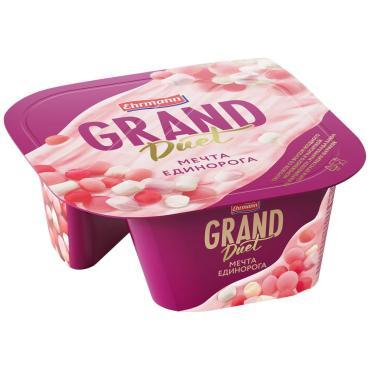 Десерт творожный со вкусом ягодного мороженого Мечта единорога 5,5%,  Grand Duet, 135 гр., пластиковый стакан