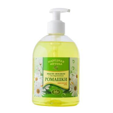 Мыло жидкое Iris Народная аптека с экстрактом Ромашки