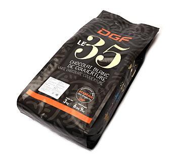 Шоколад белый 35% таблетки ;DGF ; 3 кг/упак. 7 упак./кор. FR
